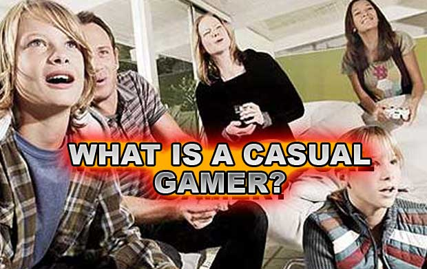 Casual gamer and hardcore gamer