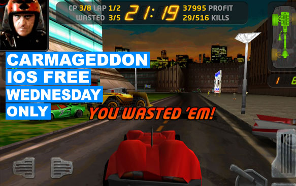 Carmageddon Free This Wednesday on Ios