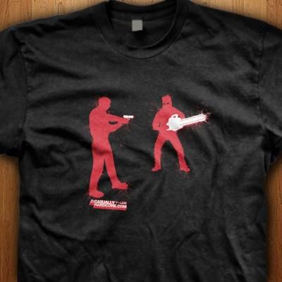 Chainsaw-Zombie-Black-Shirt