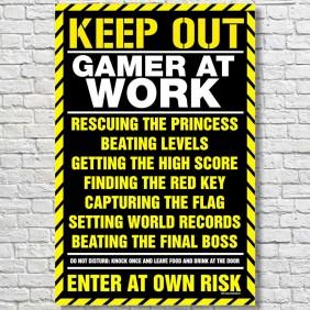Gamer-At-Work-Large-Poster