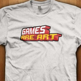 Games-Are-Art-White-Shirt