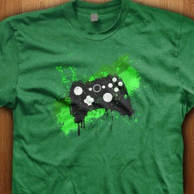 Green-Graffiti-Controller-Green-Shirt