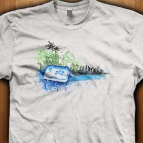 Grunge-City-Joystick-White-Shirt