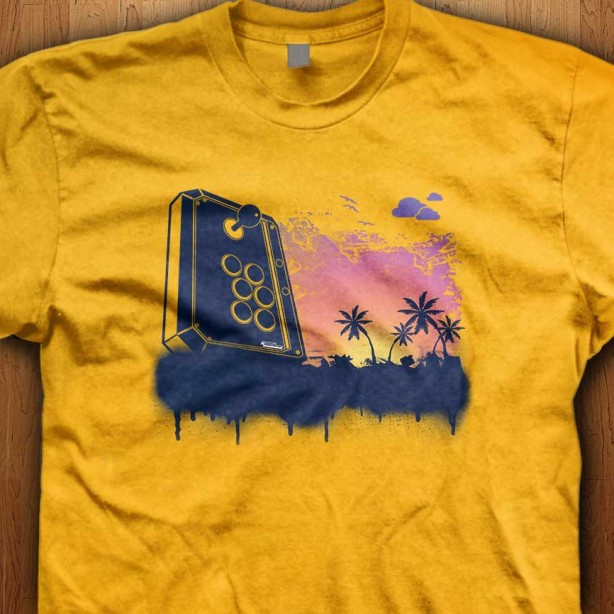 Joystick-Beach-Yellow-Shirt