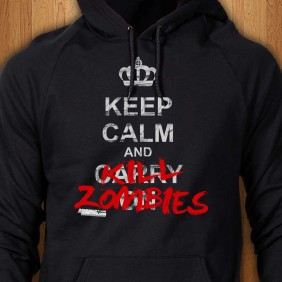 Keep-Calm-And-Kill-Zombies-Black-Hoodie