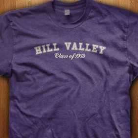 Official-Back-To-The-Future-hill-valley-class-of-1985-Purple-Shirts