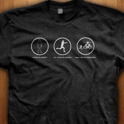 Stealth-Mode-All-Guns-Blazing-Run-For-Da-Chopper-Black-Shirt