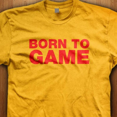 Born-To-Game-Yellow-Shirt