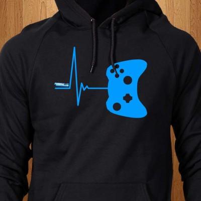 Gamer-Heartbeat-Black-Hoodie
