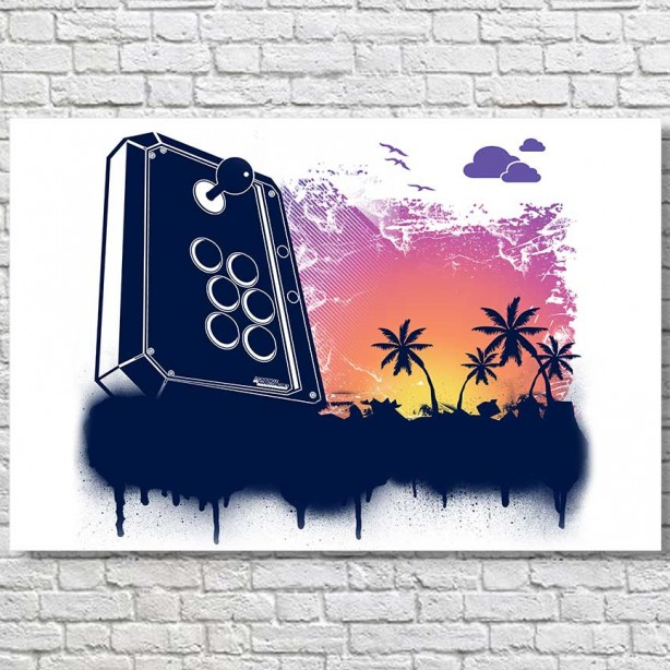 Summer-Gaming-Joystick-Large-Poster