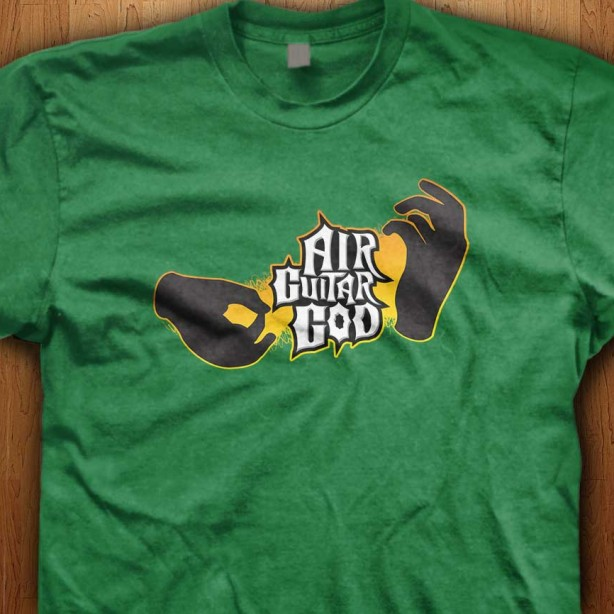 Air-Guitar-God-Green-Shirt