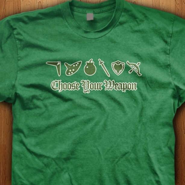 Choose-Your-Weapon-Green-Shirt