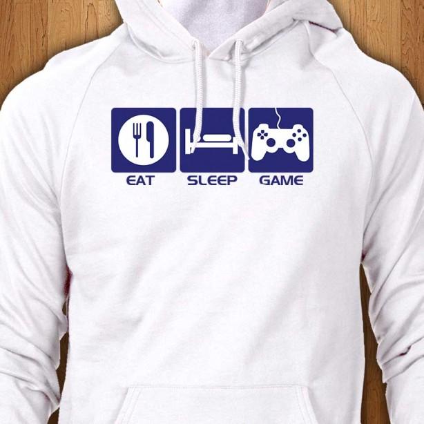Eat-Sleep-Game-White-Hoodie