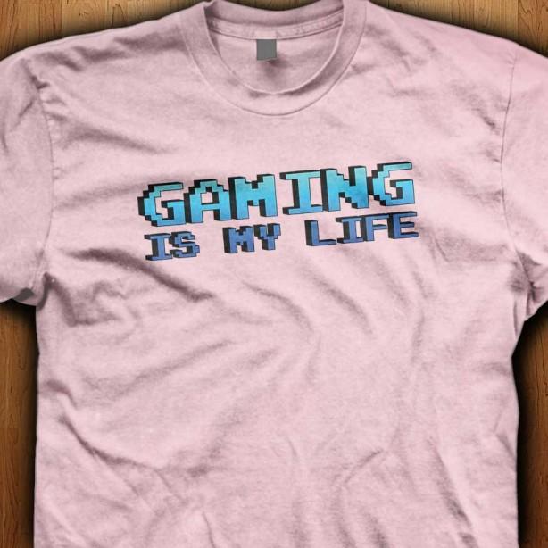 Gaming-Is-My-Life-Pink-Shirt