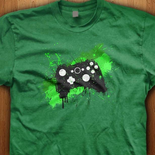 Green-Graffiti-Controller-Green-Shirt