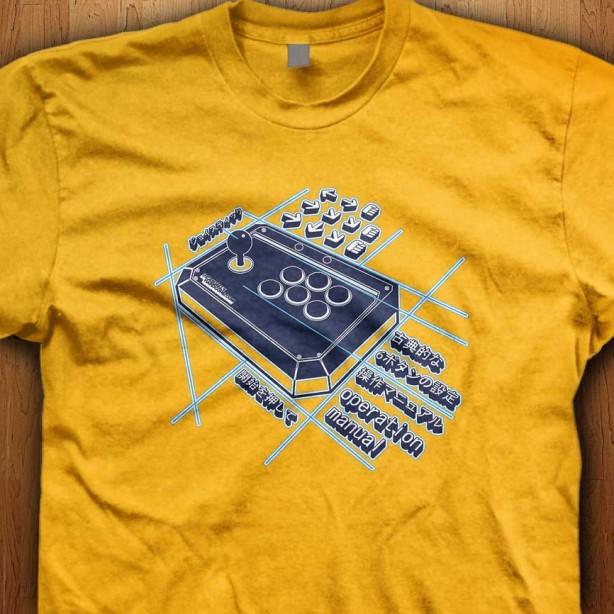 Japanese-Arcade-Stick-Yellow-Shirt