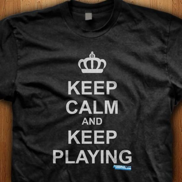 Keep-Calm-And-Keep-Playing-Black-Shirt