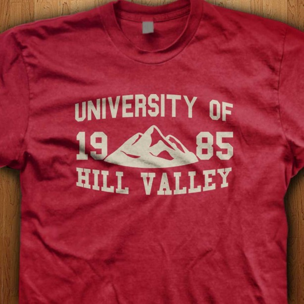 Official-Back-To-The-Future-University-Of-Hill-Valley-Red-Shirt